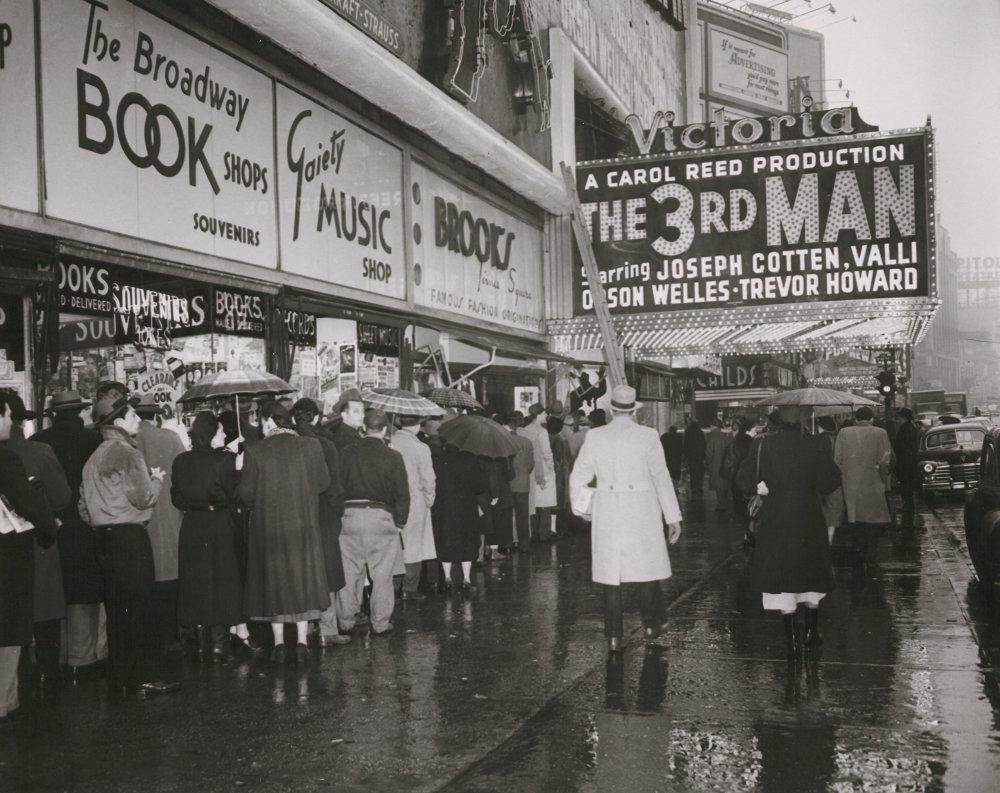 Cinema hoardings during The Third Man's first run, summer 1949