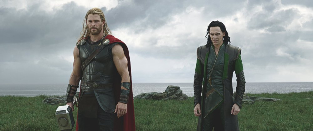 Chris Hemsworth as Thor and Tom Hiddleston as Loki in Thor: Ragnarok
