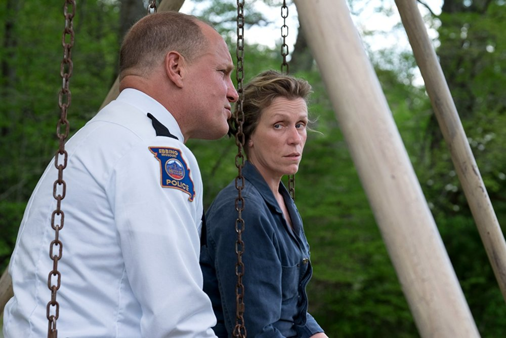 McDormand with Woody Harrelson as Sheriff Bill Willoughby