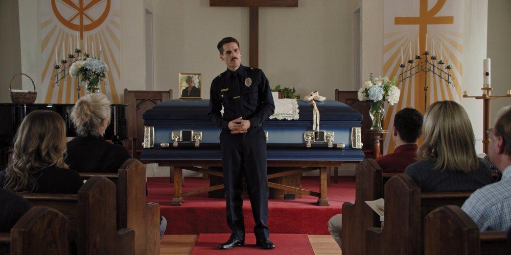 Jim Cummings as officer Jim Arnaud in Thunder Road (2018)