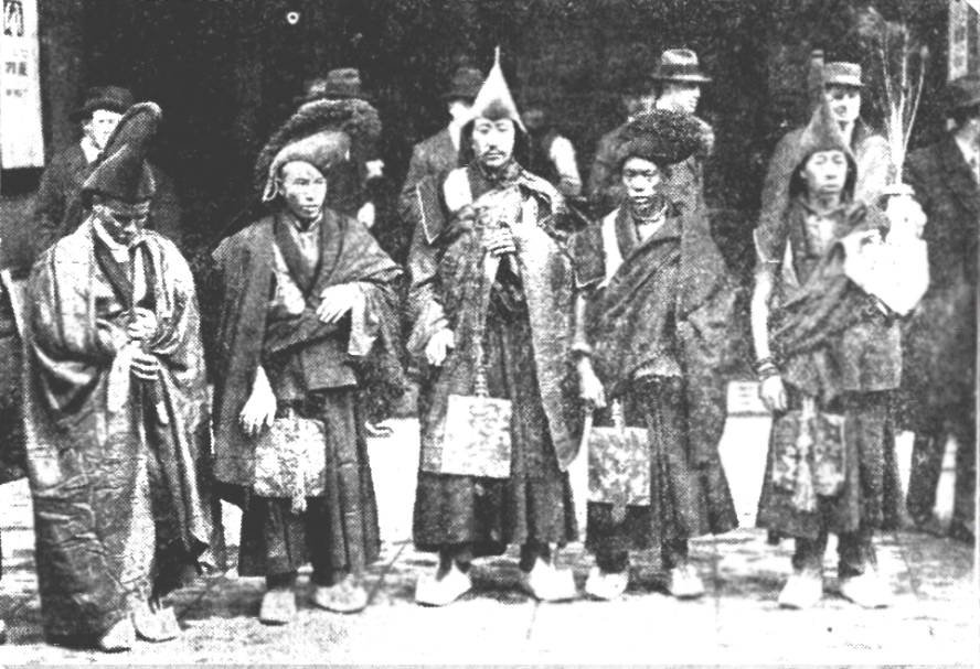 Tibetan 'lamas' visiting Britain in 1924 to promote The Epic of Everest