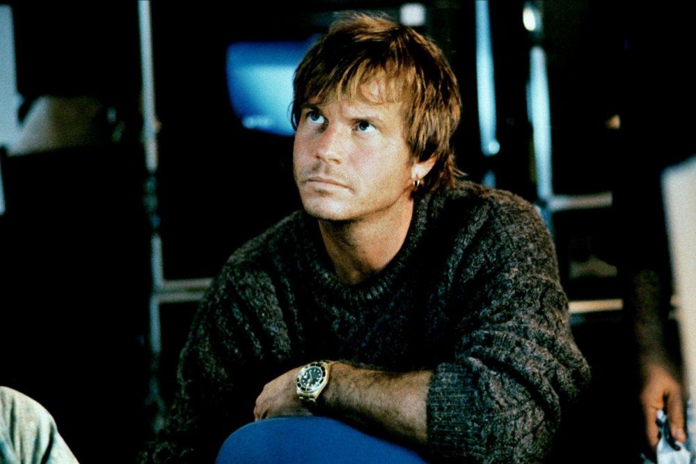 As treasure hunter Brock Lovett in Cameron's Titanic (1997)