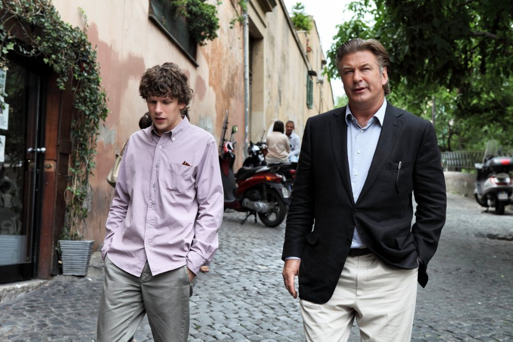 With Alec Baldwin in Woody Allen's To Rome with Love