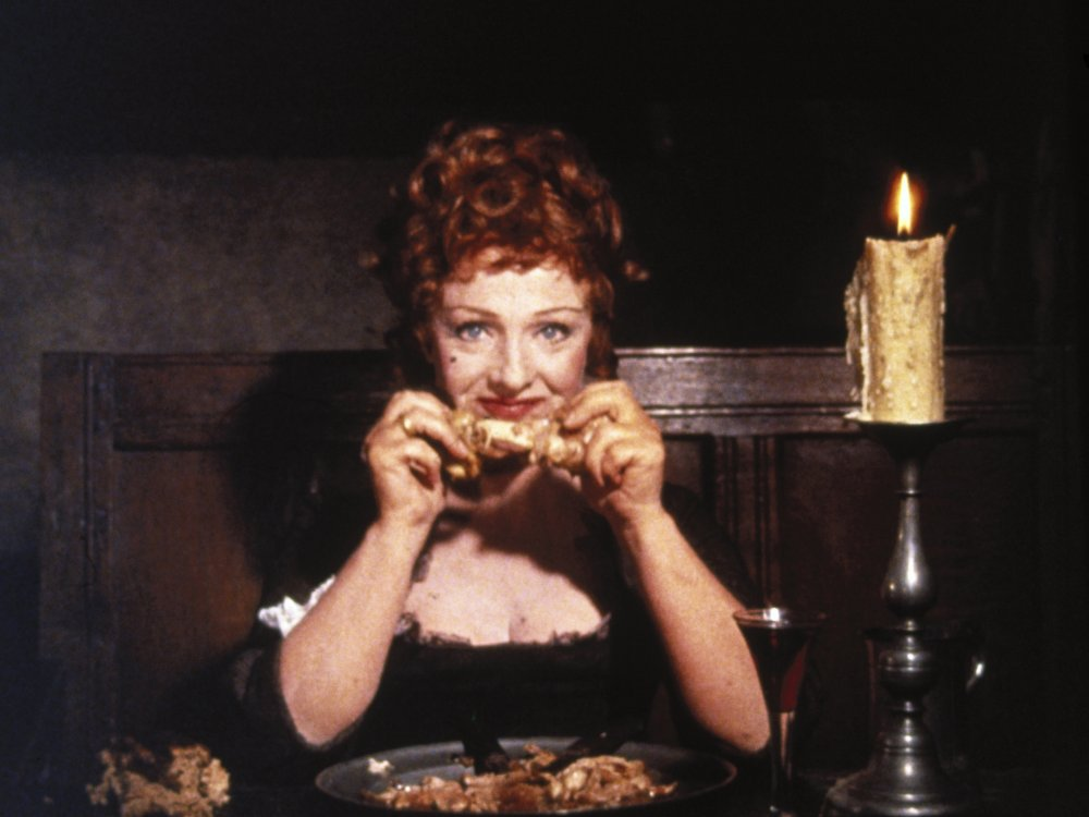 Joyce Redman in the famous dining scene from Tom Jones (1963)