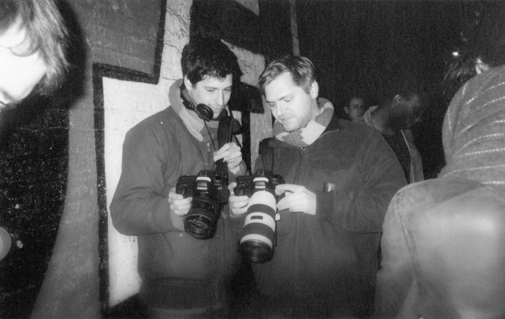Tom Shkolnik (left) with director of photography Benjamin Kracun