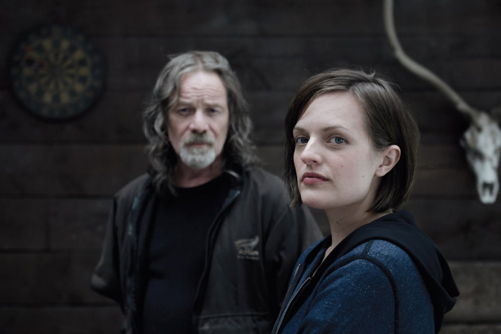Elisabeth Moss as Robin Griffin with Peter Mullan as Matt Mitcham