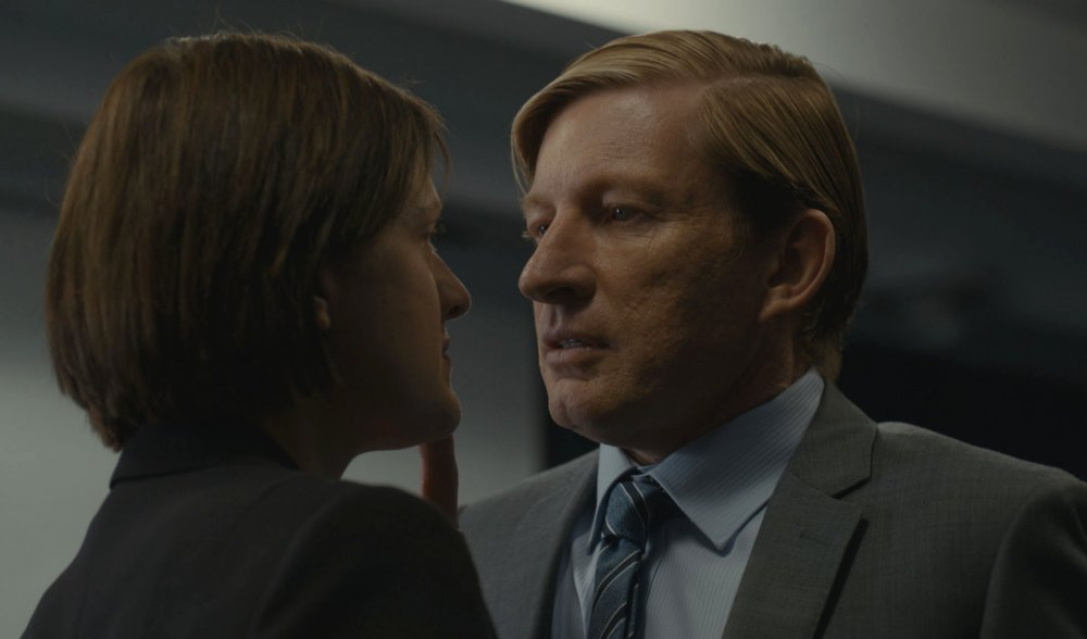 Elisabeth Moss with David Wenham as former police chief Al Parker
