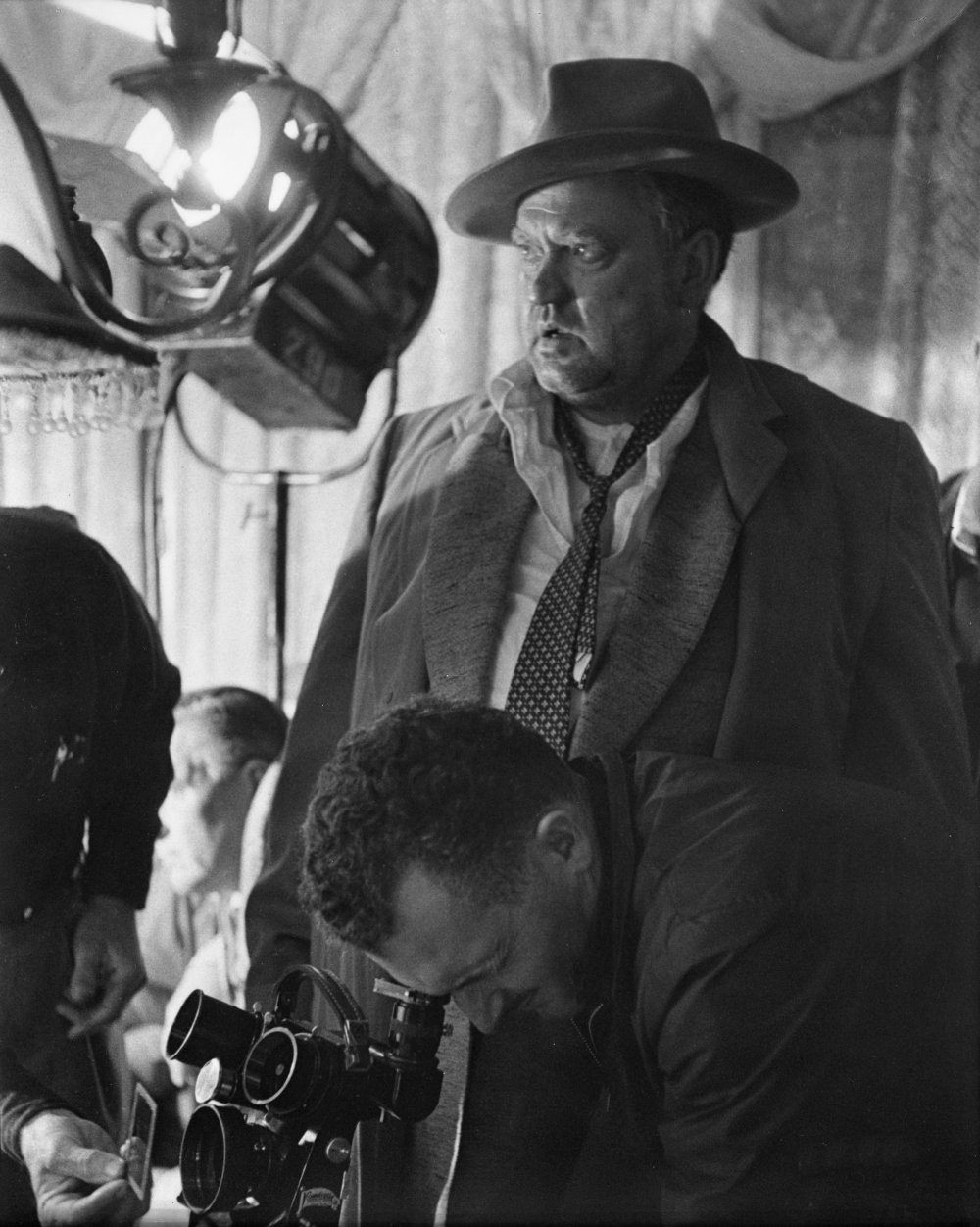Orson Welles with director of photography Russell Metty