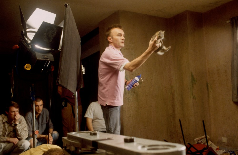 Boyle with the kitten that plays a fateful part in the life of Tommy (Kevin McKidd)