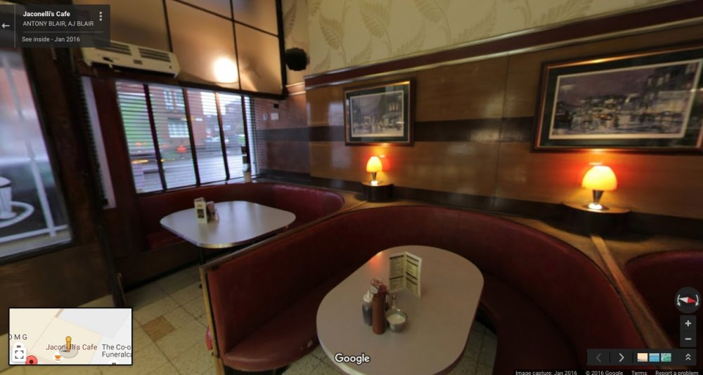 Jaconelli's Cafe: Google Maps, January 2016