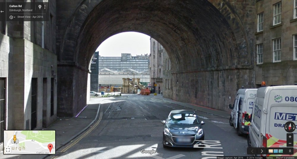 Calton Rd, Edinburgh, Scotland: Google Maps, April 2016