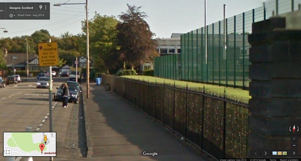 Glasgow, Scotland: Google Maps, August 2014
