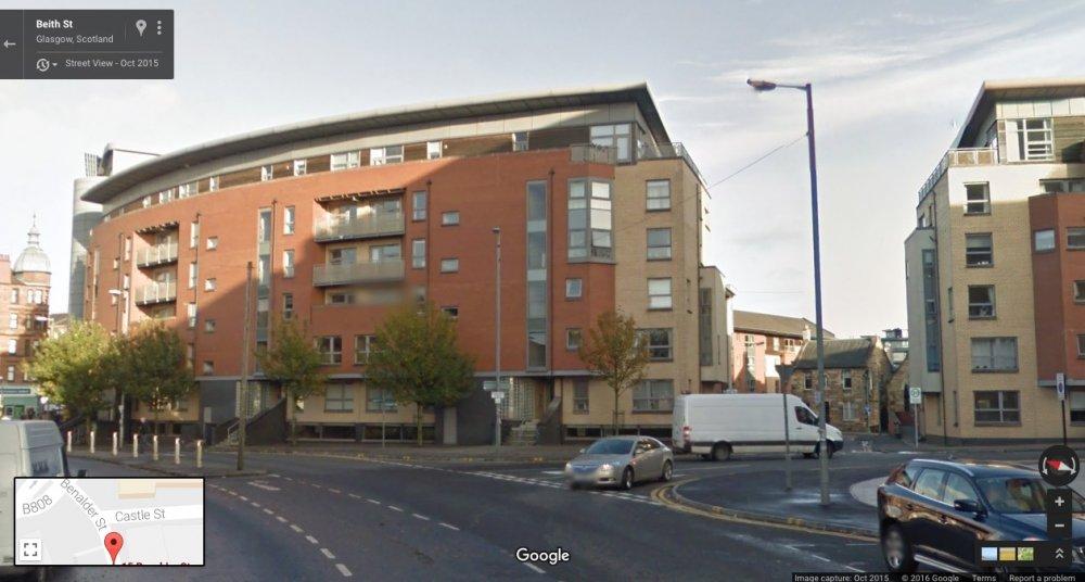 Beith St, Glasgow, Scotland: Google Maps, October 2015