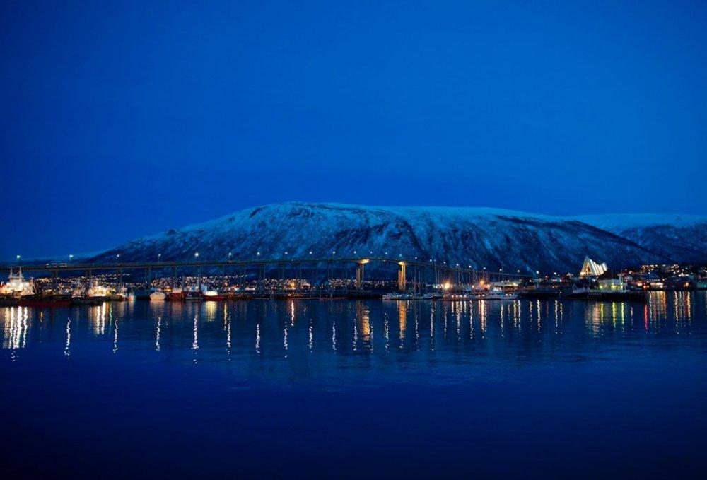 The Tromsø Bridge to downtown Tromsø on the island of Tromsøya