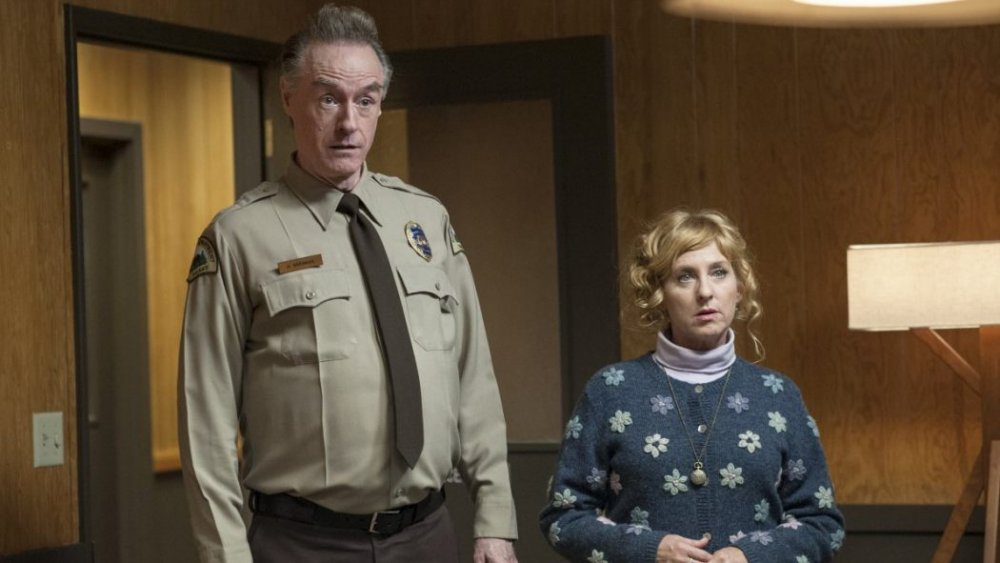 Andy (Harry Goaz) and Lucy (Kimmy Robertson)