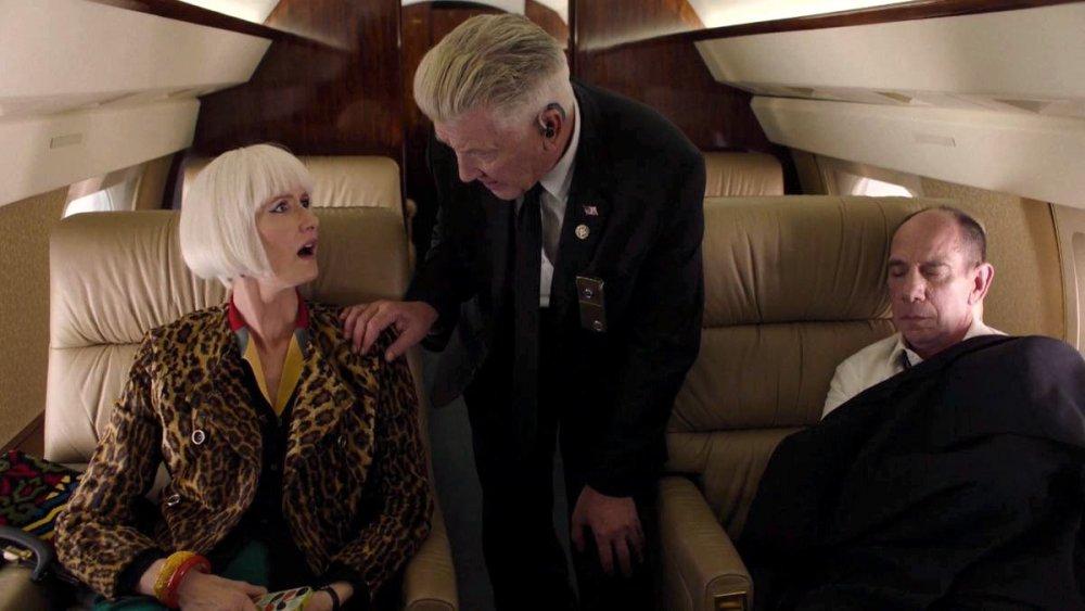 Laura Dern as Diane, David Lynch as Gordon and Miguel Ferrer as Albert