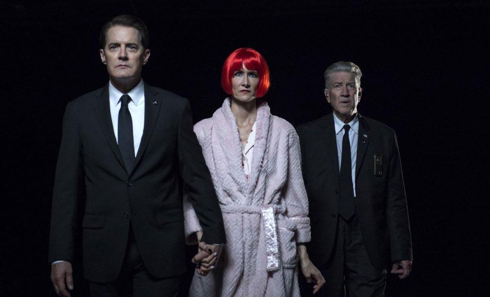 Kyle McLachlan, Laura Dern and David Lynch in Twin Peaks: the Return