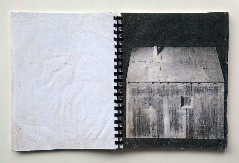 A spread from Two Cabins by JB, co-edited by James Benning and Julie Ault (A.R.T. Press, 2011)