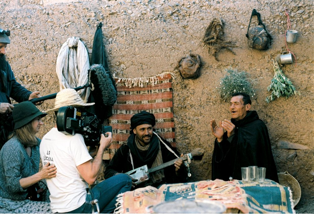 Rivers shooting Moroccan bandits on location in Morocco