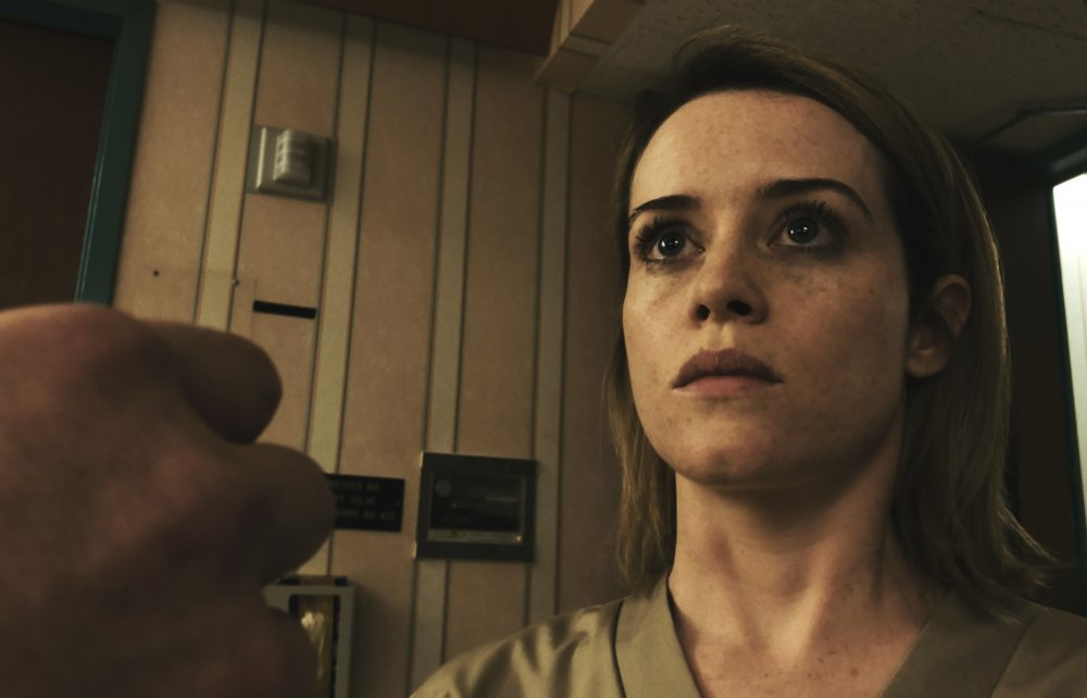 Claire Foy as Sawyer Valentini in Unsane