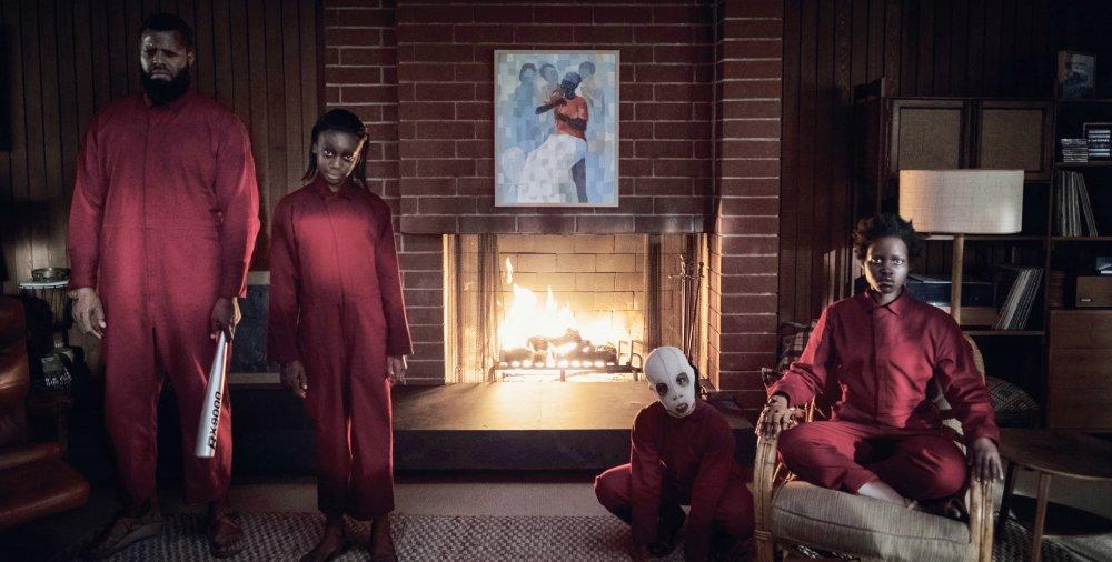 Winston Duke, Shahadi Wright Joseph, Evan Alex and Lupita Nyong'o as the Tethered family in Us