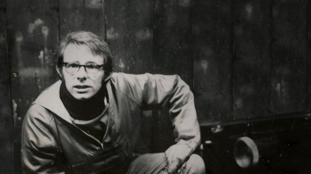 Ken Loach on the set of Kes (1969)