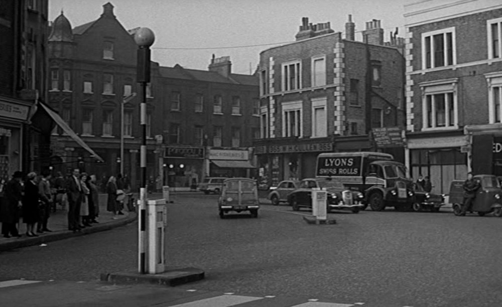 The crossing outside Fulham police station