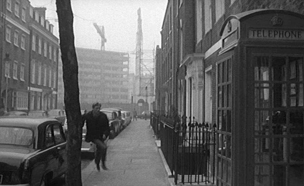 Buckingham Place with telephone box…