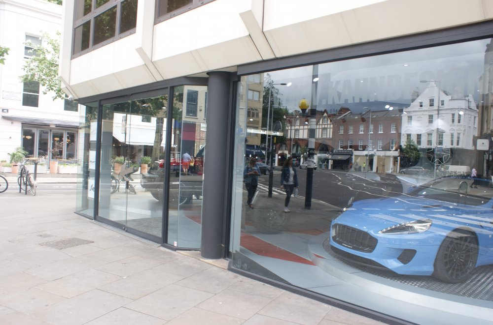 …now a car showroom