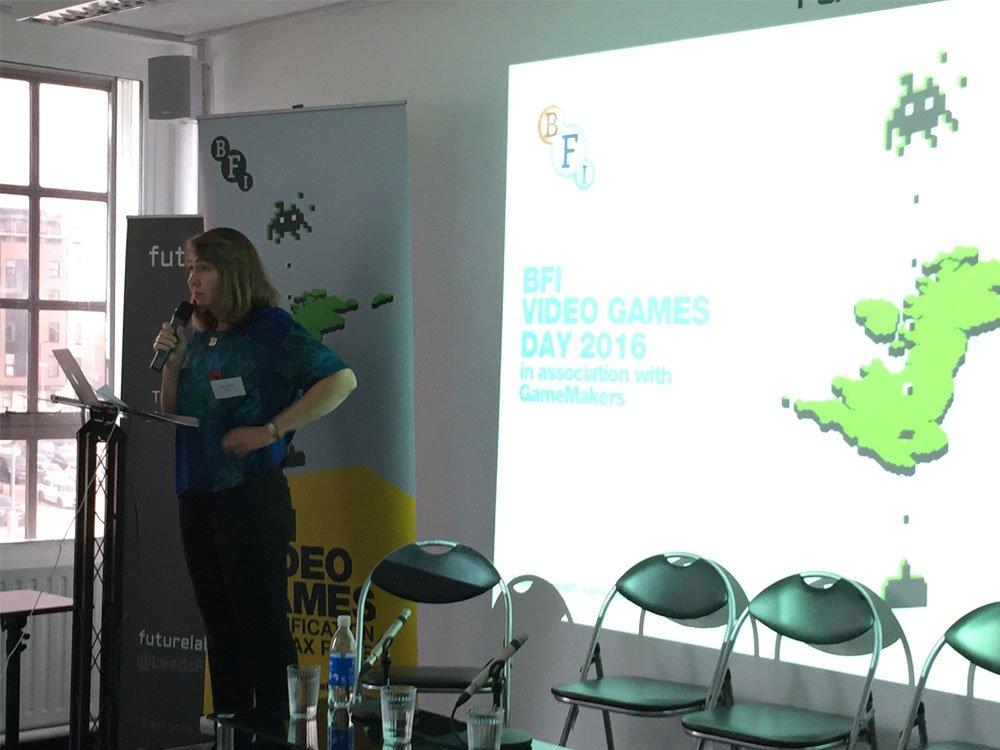 BFI Head of Certification, Anna Mansi opens the Video Games Day in Leeds.