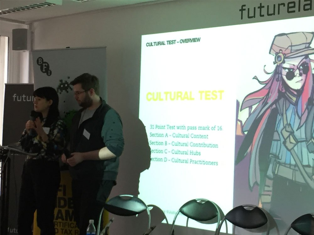 Julia Brown and Colm Seeley from the Certification Team explaining the cultural test.