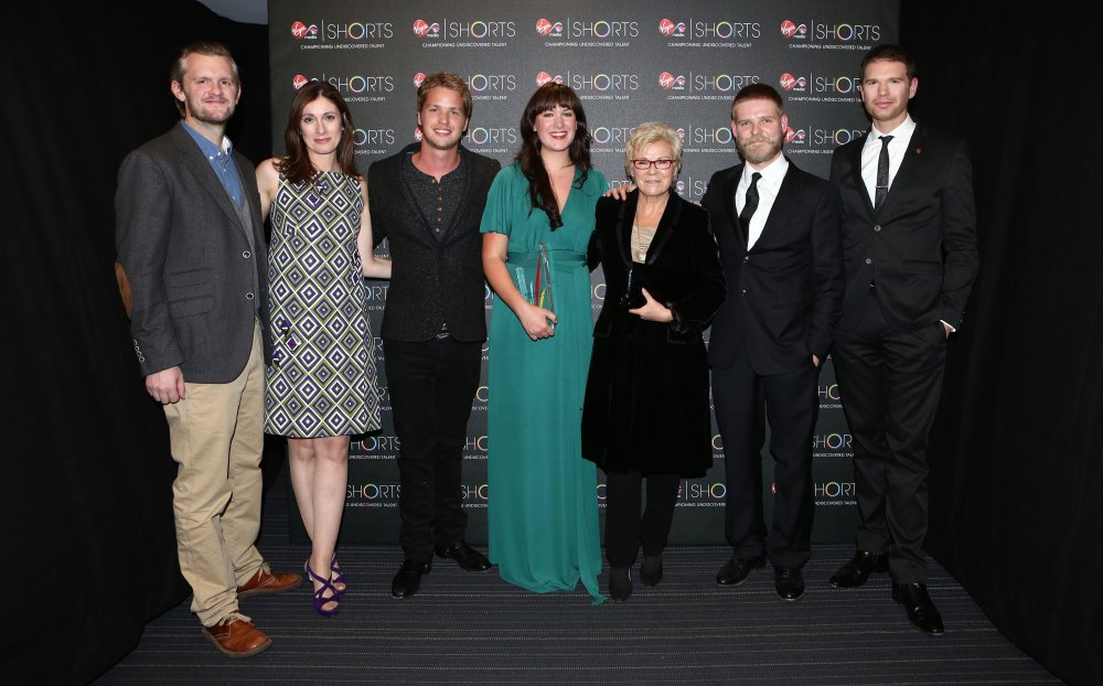 Jennifer Sheridan with jurors (left to right): Ben Roberts, Cindy Rose, Sam Branson, Julie Walters, Luke Snellin and James King.