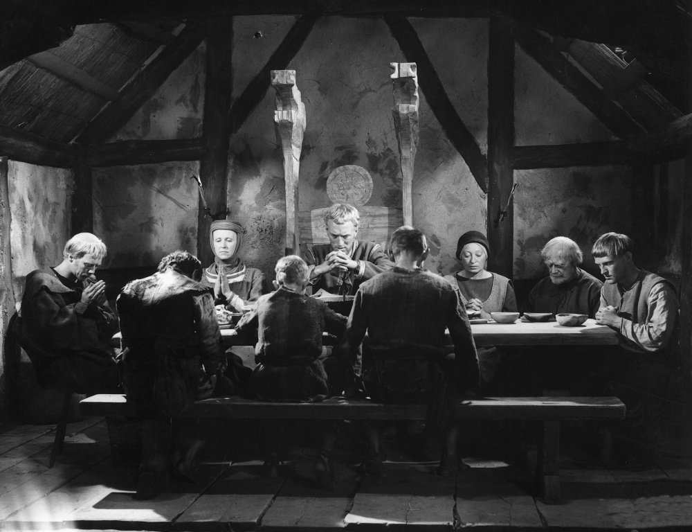 Giving thanks in the Wes Craven-inspiring pagan drama The Virgin Spring (1960)
