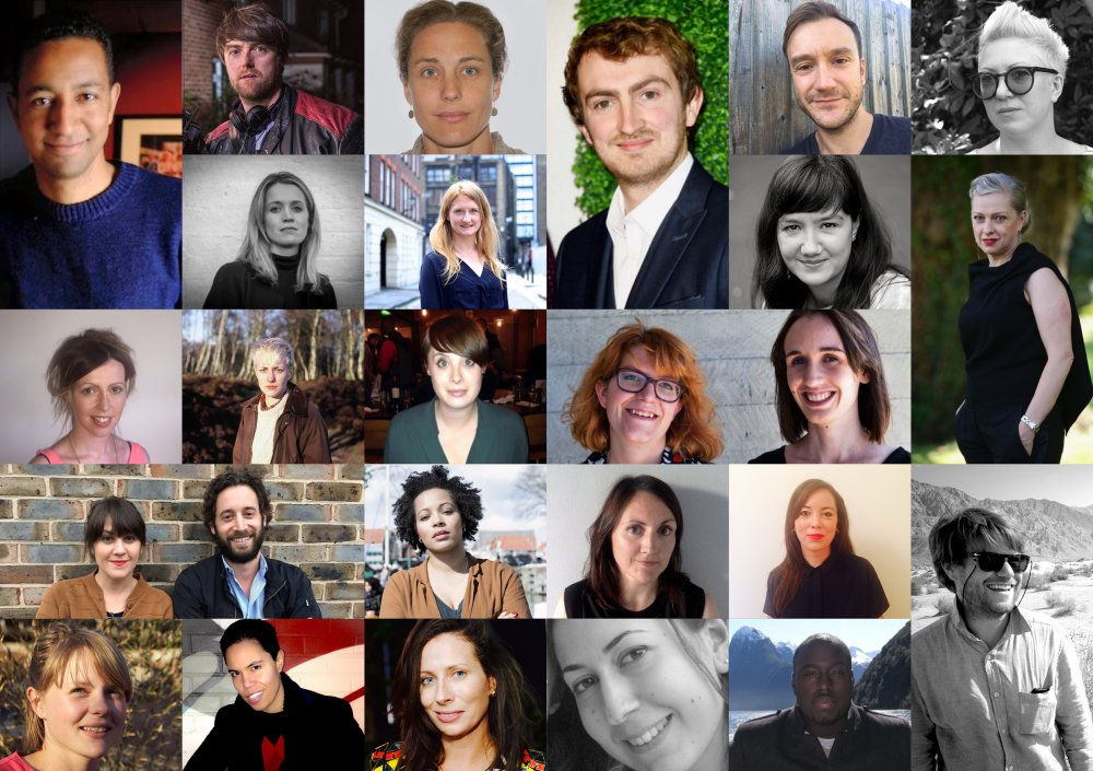 From left to right, from the top: Bennett McGhee, Brian Falconer, Camilla Bray, Chris Hees, Rob Watson, Bekki Wray-Rogers and Libby Durdy, Emily Morgan, Catryn Ramasut, Jacqui Davies, Jude Goldrei, Loran Dunn, Michelle Eastwood, Emilie Jouffroy and Kamilla Kristiane Hodol, Cecilia Frugiuele and Olivier Kaempfer, Rienkje Attoh, Ciara Barry and Rosie Crerar, Nell Whitley, Rachelle Constant, Serena Armitage, Elhum Shakerifar, Yaw Basoah and Rupert Lloyd
