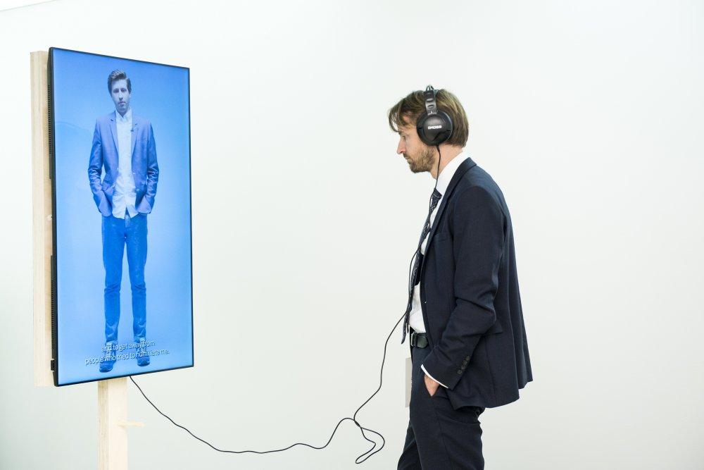 Andreas von Bekerat, Sweden's ambassador to Ukraine, at the exhibition Carlos Motta: Patriots, Citizens, Lovers… at Pinchuk Art Centre
