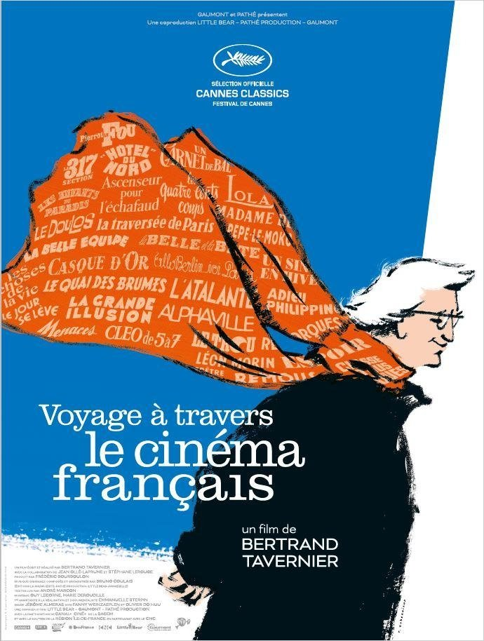 The festival poster for Bertrand Tavernier's A Journey through French Cinema (2016)