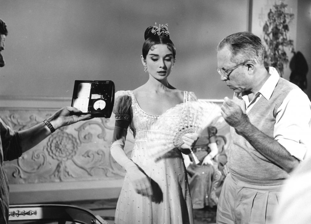 King Vidor directs Audrey Hepburn in War and Peace (1956)