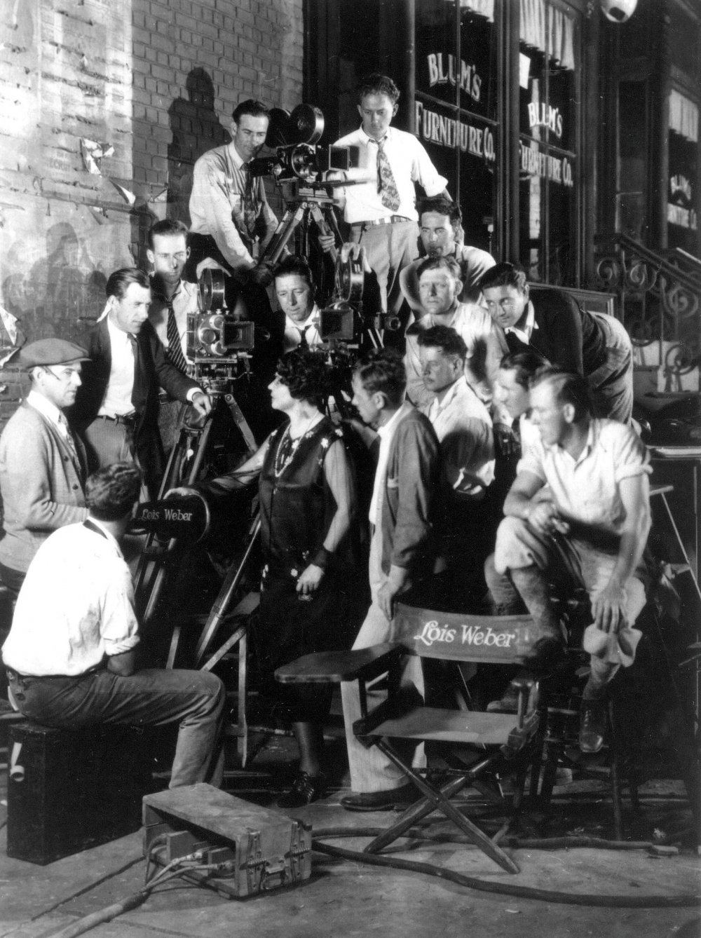 Lois Weber and crew