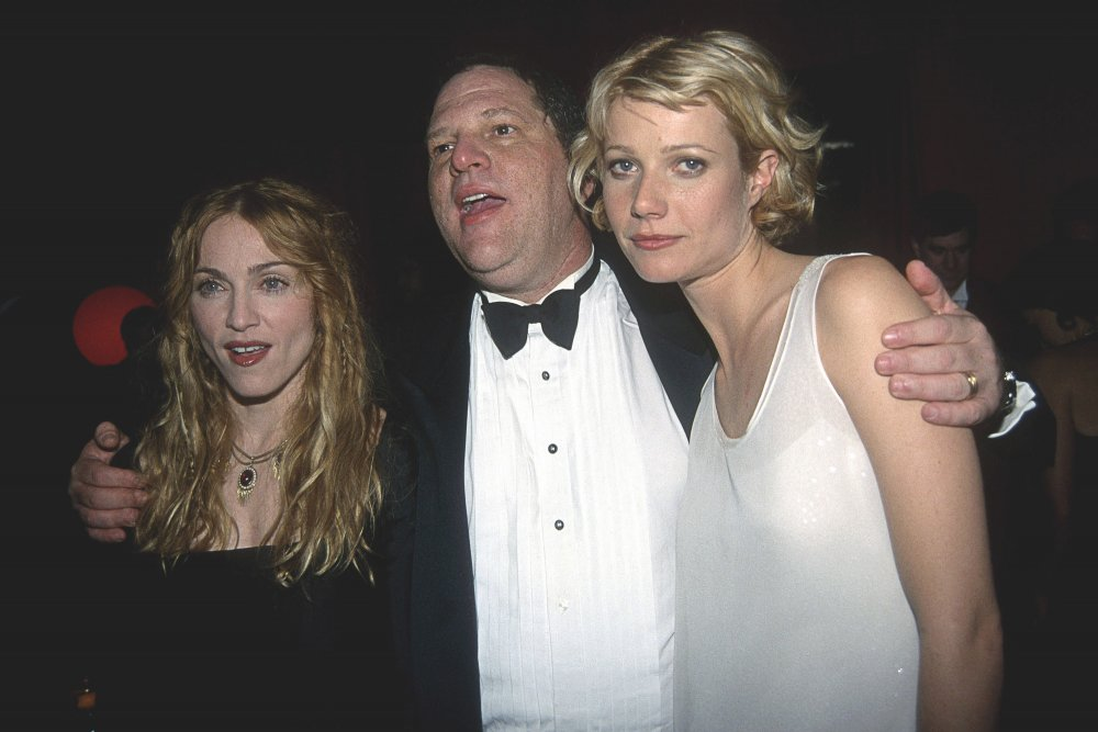 Madonna, Harvey Weinstein and Gwyneth Paltrow at the Golden Globes after-party in 1998