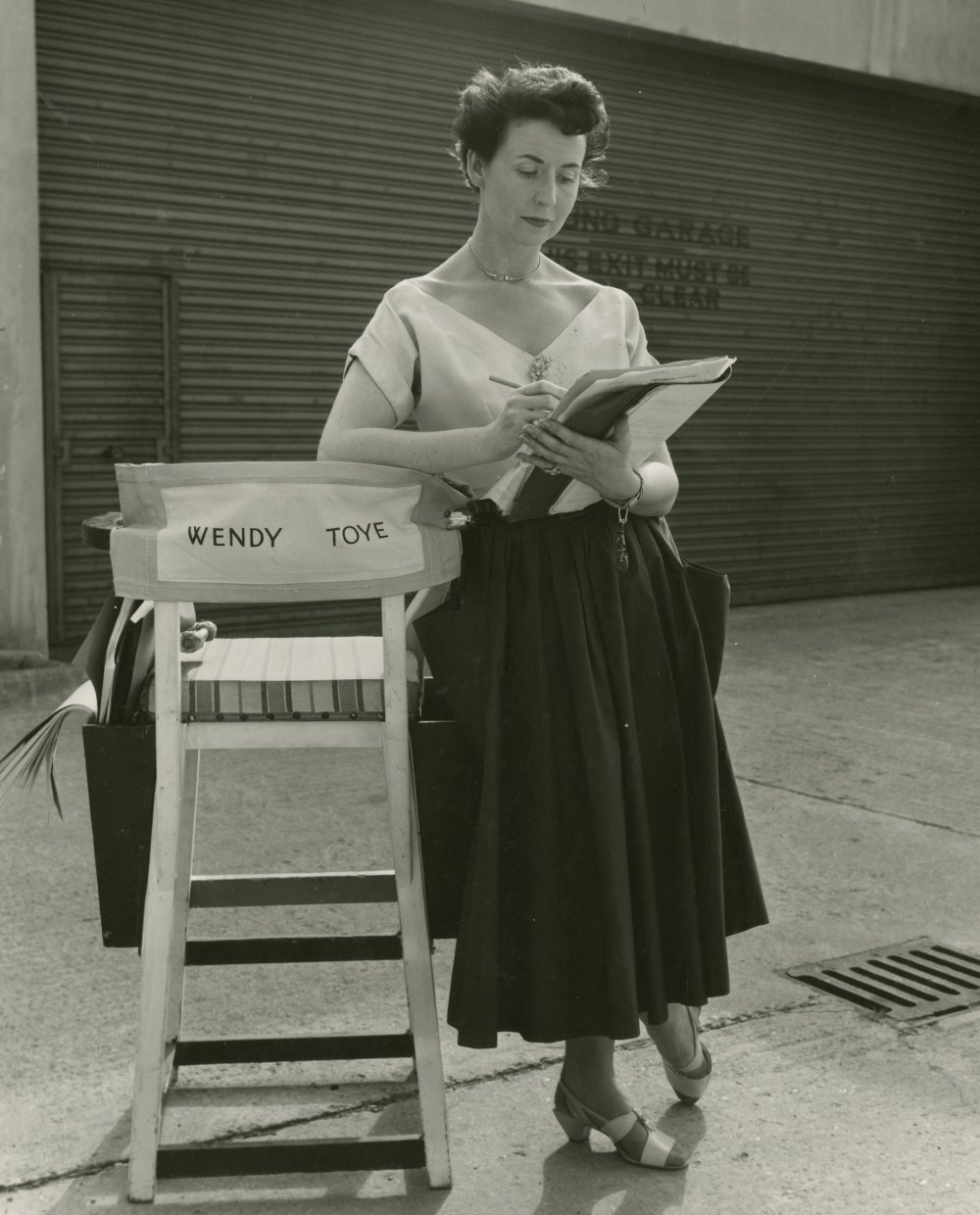 <strong>Wendy Toye</strong>, director, 'In the Picture', one of the three segments of Three Cases of Murder (1955). Toye directed nine British films, getting an Oscar nomination for her short film On the Twelfth Day… (1955).