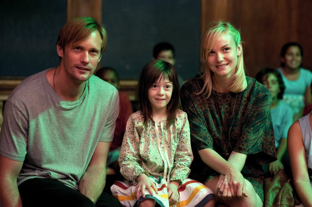 Maisie in the middle: Aprile with Alexander Skasgård as Lincoln and Joanna Vanderham as Margo