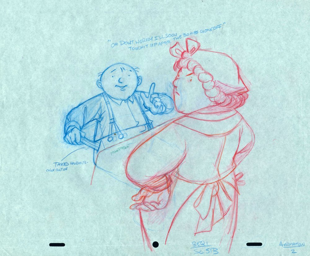Production drawing from When the Wind Blows (1986)