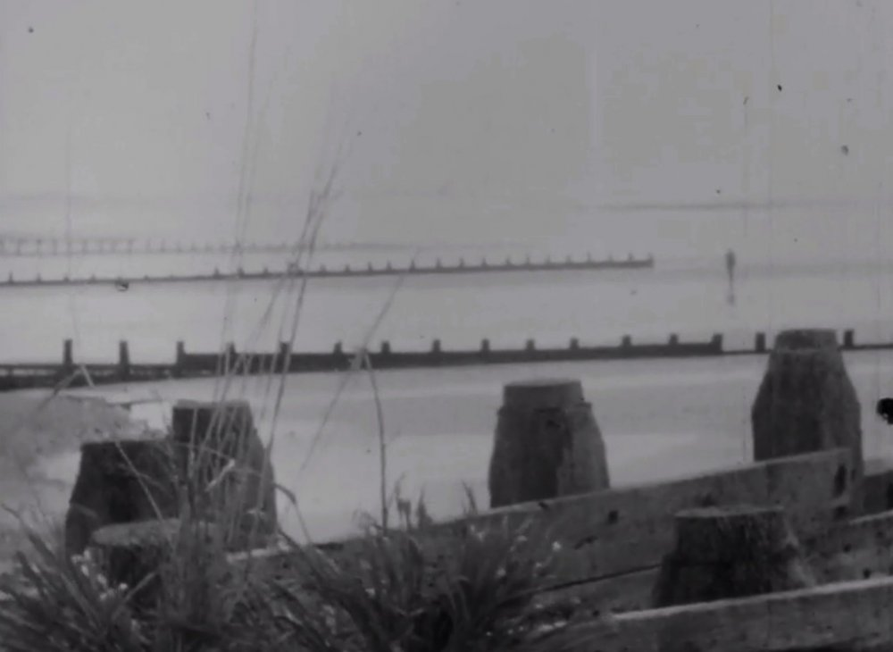 The beach in the 1956 version