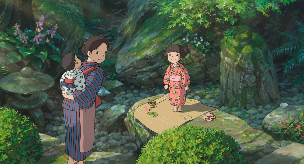 The mother and sister of Jiro, the film's protagonist