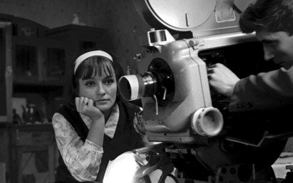 Larisa Shepitko on the set of Wings (1966)