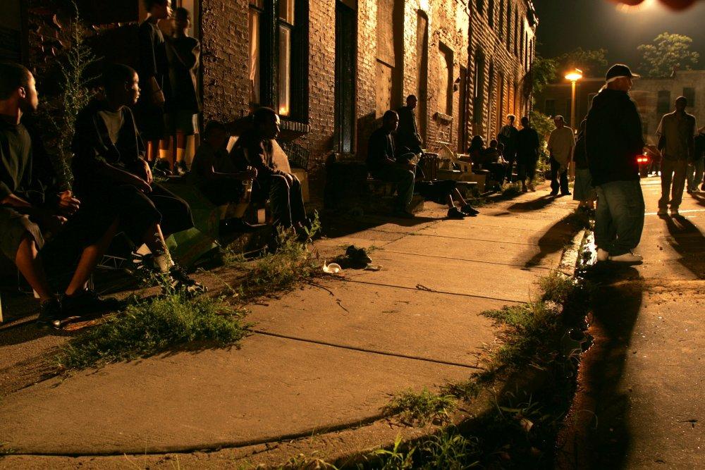 Baltimore night life in season three of The Wire