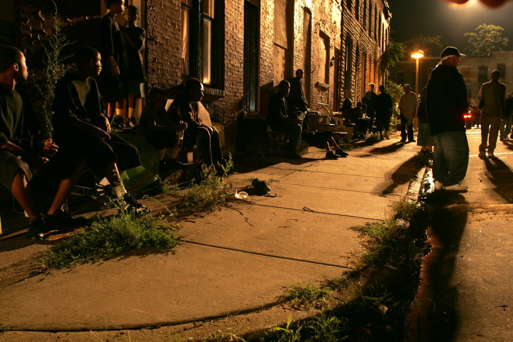 Baltimore night life in season three of The Wire