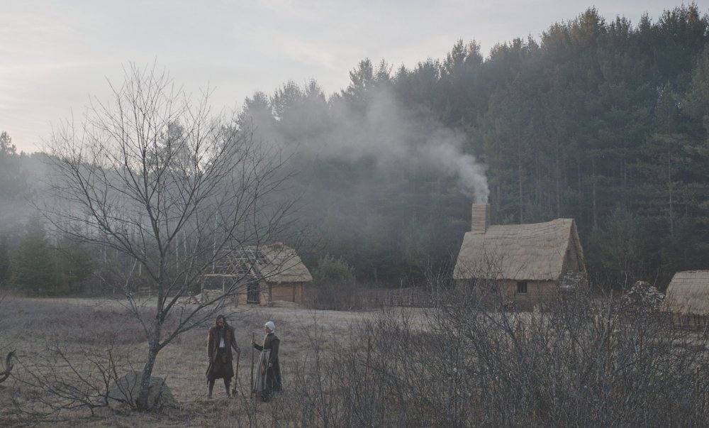 Into the wild: the frontier homestead of settlers William (Ralph Ineson) and Katherine (Kate Dickie)