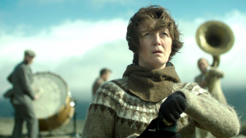 Halldóra Geirharðsdóttir as Halla in Woman at War (Kona fer í stríð)