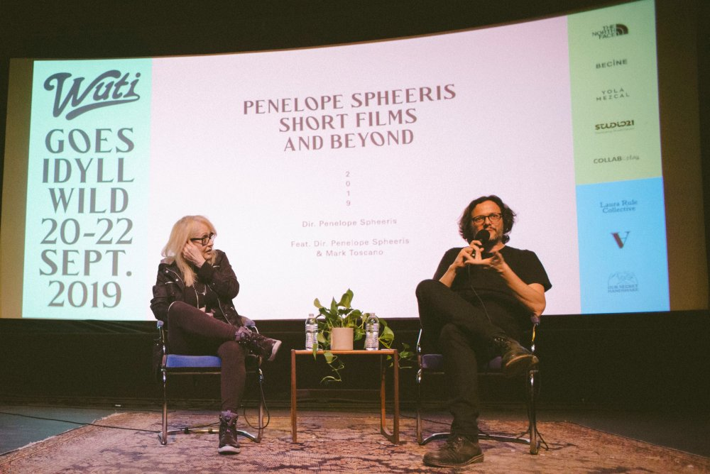 Mark Toscano hosts Penelope Spheeris on stage at the WUTI goes IdyllWILD festival 2019